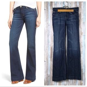 7 For All Mankind 25 Dojo Wide Flare Leg Jeans
